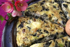 Stinging nettle Frittata to heal the wounds of winter