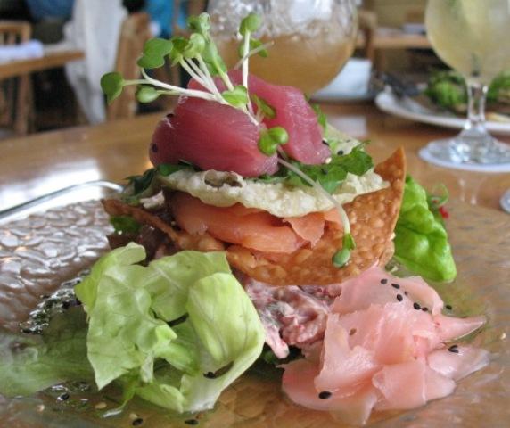 The famous sashimi napoleon
