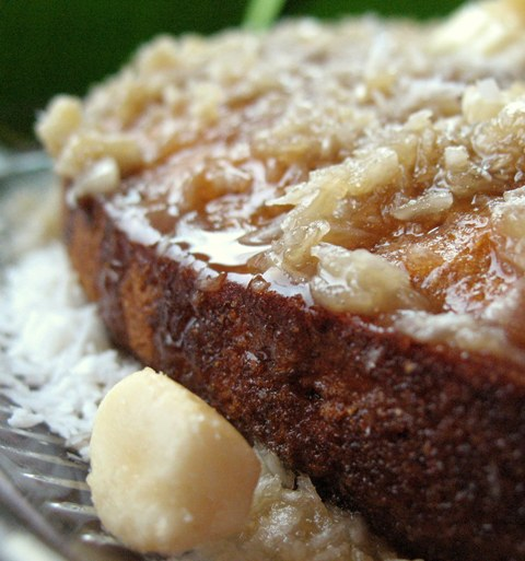 Dreaming of Maui Banana Bread with lime glaze, yum
