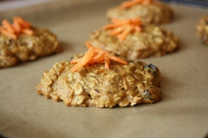 Carrot Cookies made with maple syrup, delish!