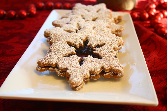 Linzer Sables A Christmas Jewel Of A Cookie The Go Lightly Gourmet