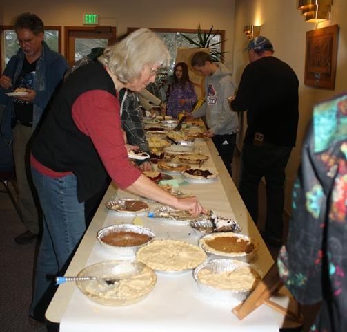 Ortiz at the pie feast