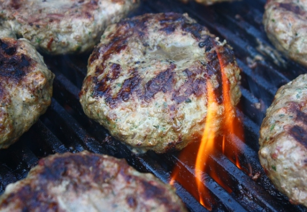 These lamb burgers look as good as they taste