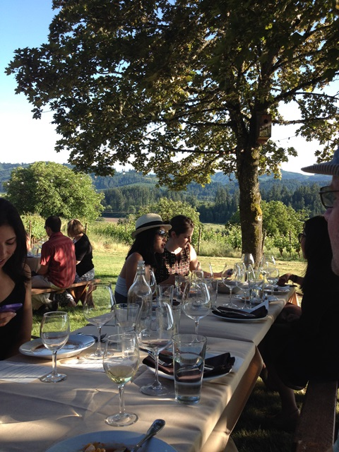 Field and vine event overlooking the lovely Willamette valley