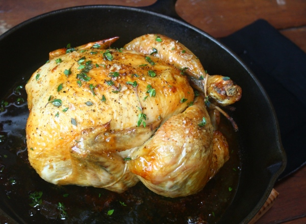 Thomas Keller's famous roast chicken