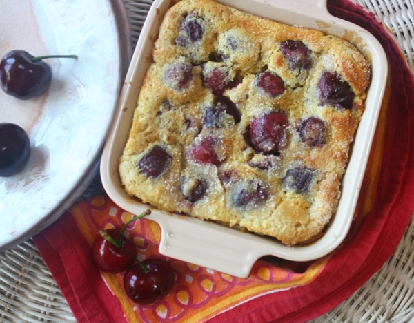 Julia Childs' cherry clafoutis